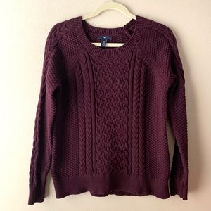 Gap purple knit sweater